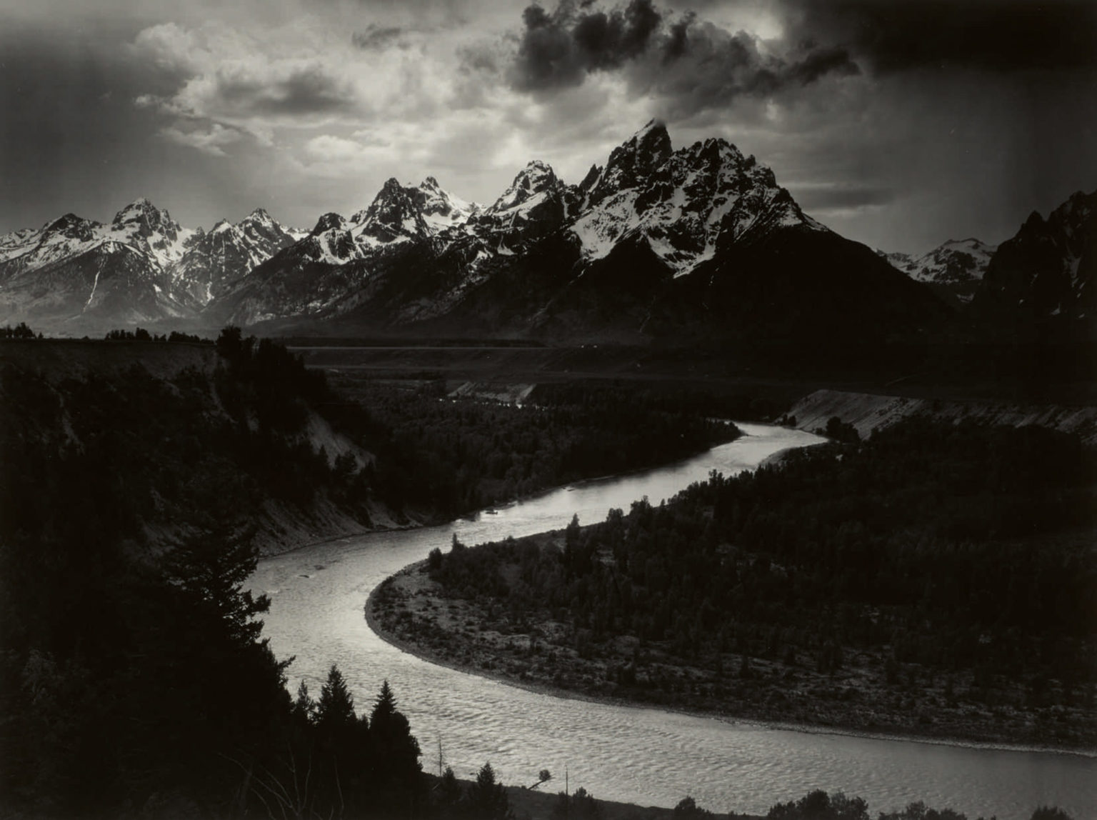 Ansel adams grand tetons and the snake river grand teton national park wy scaled 1536x1148